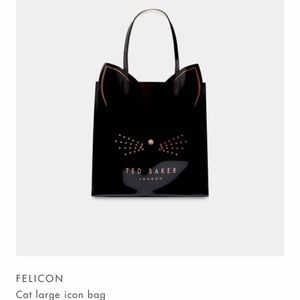 NWT Ted Baker London Large Cat Icon Bag